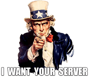 I want your server